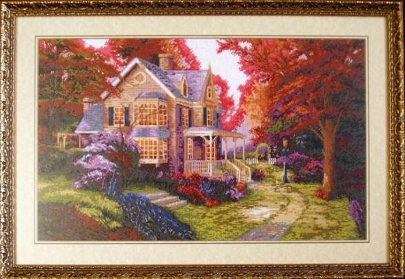 На больших картинах сочетается множество цветов, что делает ее настоящим шедевром