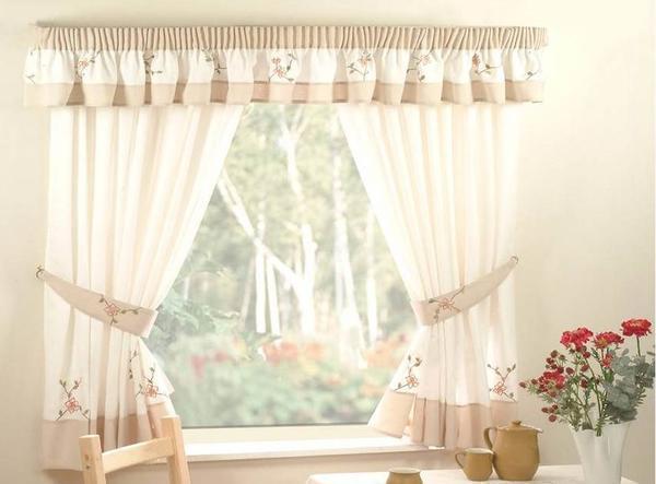 Короткие шторы на кухню фото: занавески в горох в хрущевке, дизайн окна, маленькая кухня в стиле прованс