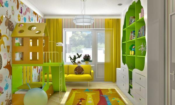Можно совместить спальню и детскую комнату, используя декоративные вещи и оригинальный дизайн