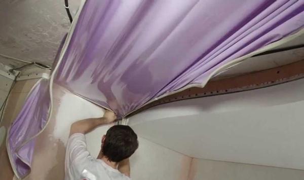 Максимальная ширина полотнища натяжного потолка составляет 5 метров