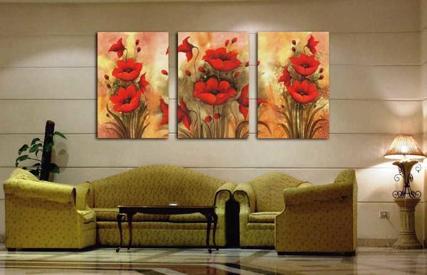 Модульное панно: своими руками, applico, на стену фото, апплико, фрески в интерьере, картины