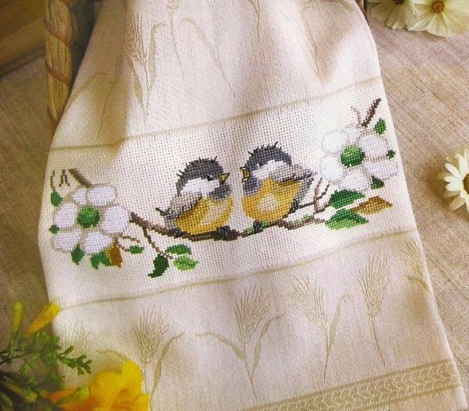 Придайте своим полотенцам индивидуальности с помощью вышивки крестиком