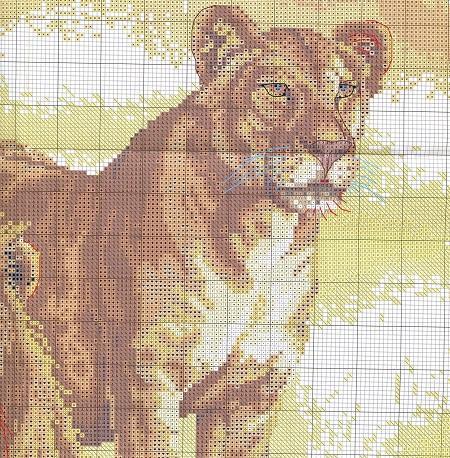 Схемы для вышивания крестом львов можно купить в магазине для рукоделия или интернете