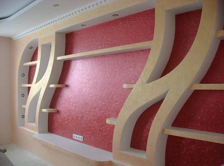 Из гипсокартона можно сделать практичные предметы мебели и красивые элементы декора