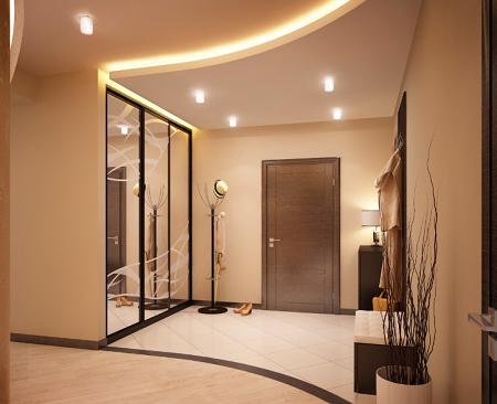 Для прихожей площадью 9 кв. м отлично подойдет стиль минимализм, который предусматривает использование только самой необходимой мебели