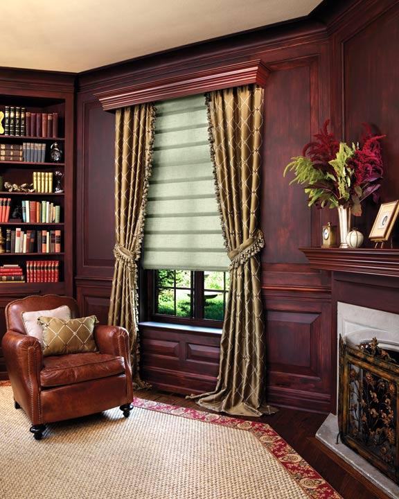 С помощью штор в кабинете работа становится плодотворной, а её результат – позитивным