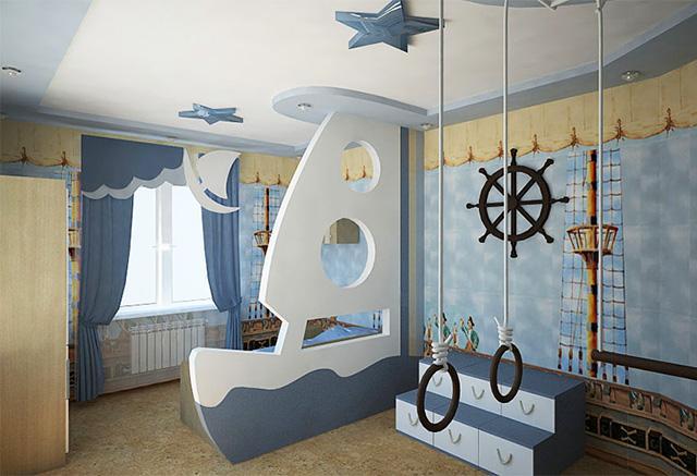 Сделать интерьер комнаты креативным и интересным можно при помощи оригинальных фигур из гипсокартона