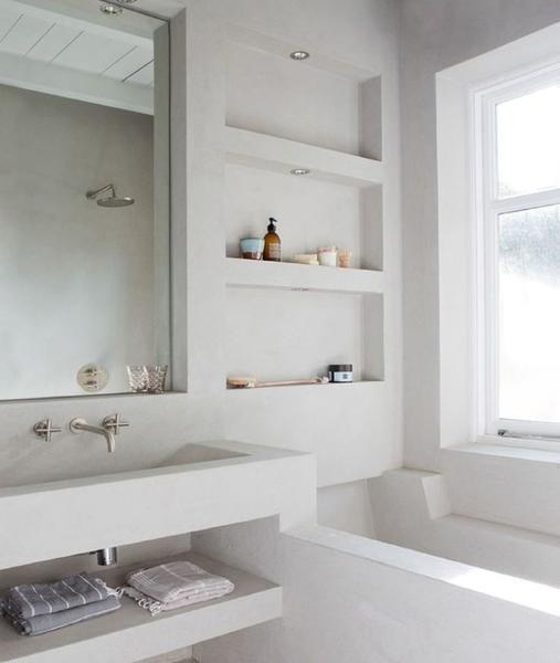 Ниша под раковину в ванной