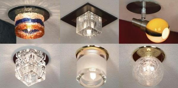 Накладной точечный светильник на потолок