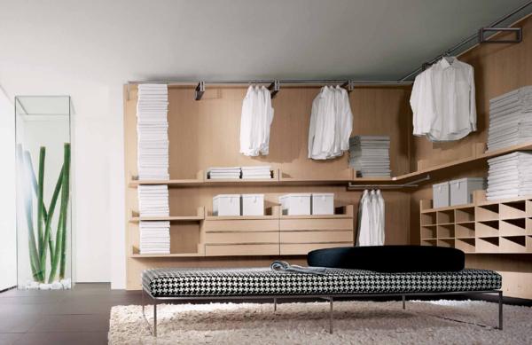 Дизайн угловой гардеробной следует подбирать в зависимости от стиля интерьера помещения