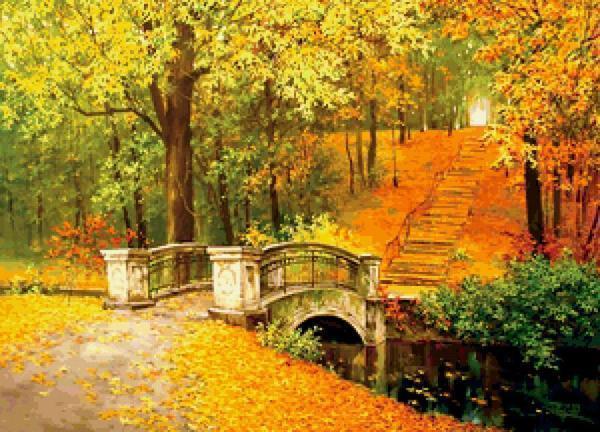 Оригинальный и символичный осенний пейзаж станет изюминкой в вашем интерьере