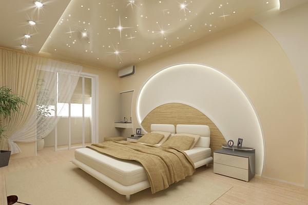 Натяжной потолок с многоуровневой конструкцией – идеальный вариант скрыть все неровности черновой поверхности