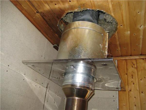 При монтаже трубы в бане необходимо использовать оцинкованный металл, алюминий применять категорически запрещено