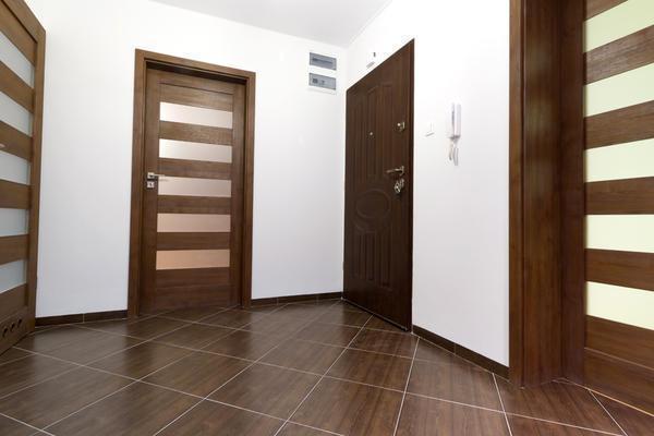Есть несколько вариантов материала, из которого могут быть выполнены двери в прихожей