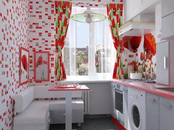 Красная цвет очень рискованный, но в то же время изящный способ окрасить вашу кухню