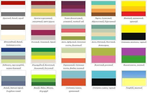 При выборе цвета обоев важно учитывать сочетаемость оттенков