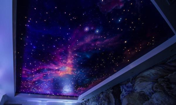 Наиболее популярны стикеры в виде звездочек для имитации звездного неба