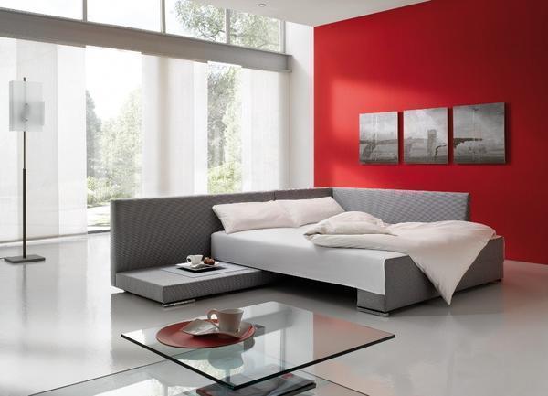 Угловые спальные диваны являются функциональными, поэтому они отлично подойдут для комнаты небольших размеров