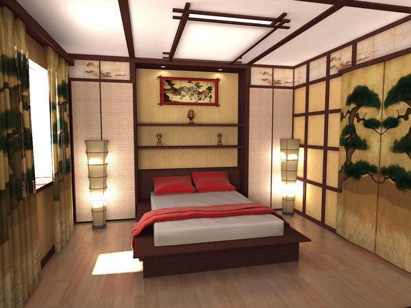 Бамбуковые плиты на потолке и стенах отлично дополнят креативный дизайн вашей комнаты