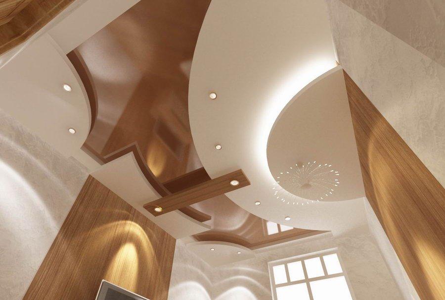 Многоуровневые гипсокартонные конструкции можно использовать для корректировки визуального восприятия жилого помещения