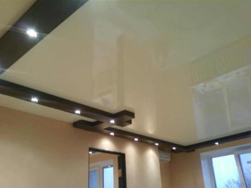 Бесшовные натяжные потолки - это ровная и глянцевая поверхность
