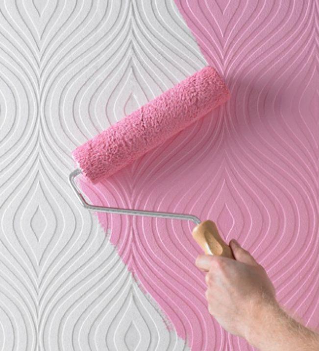 Обои под покраску помогут вам красиво и экономно украсить ваш интерьер