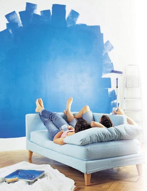 Техника покраски стен гораздо легче, чем кажется