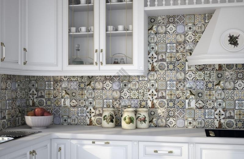 Пэчворк в кухонном интерьере выглядит свежо и необычно