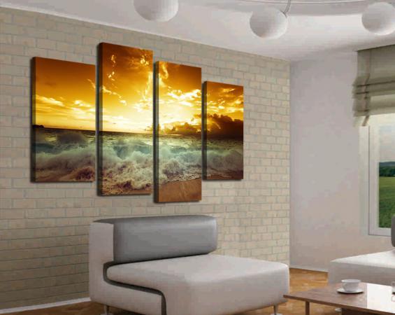Модульное панно - модный элемент дизайна, способный освежить интерьер любого помещения