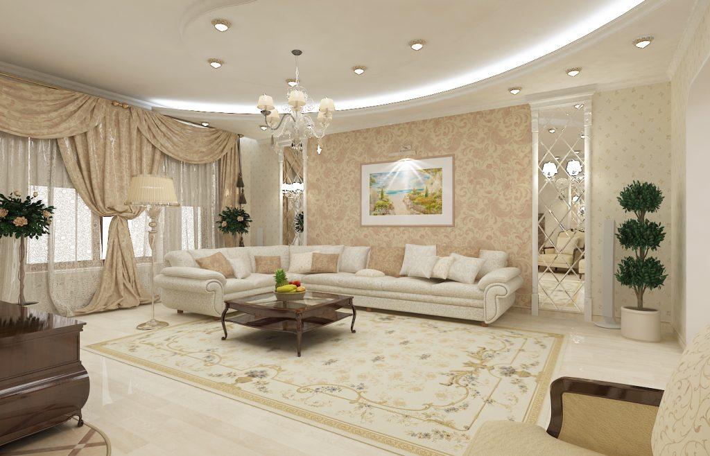 Гостиная - это место, где вы проводите свое время с гостями и ее интерьер должен быть великолепным
