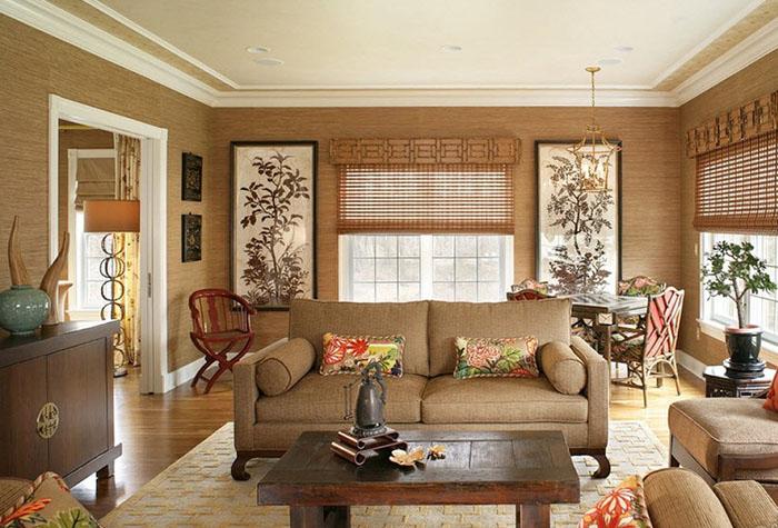 Бамбуковые обои изготовляются с природного материала, поэтому помогут не только украсить интерьер вашей комнаты, но и сделать ее более экологичной
