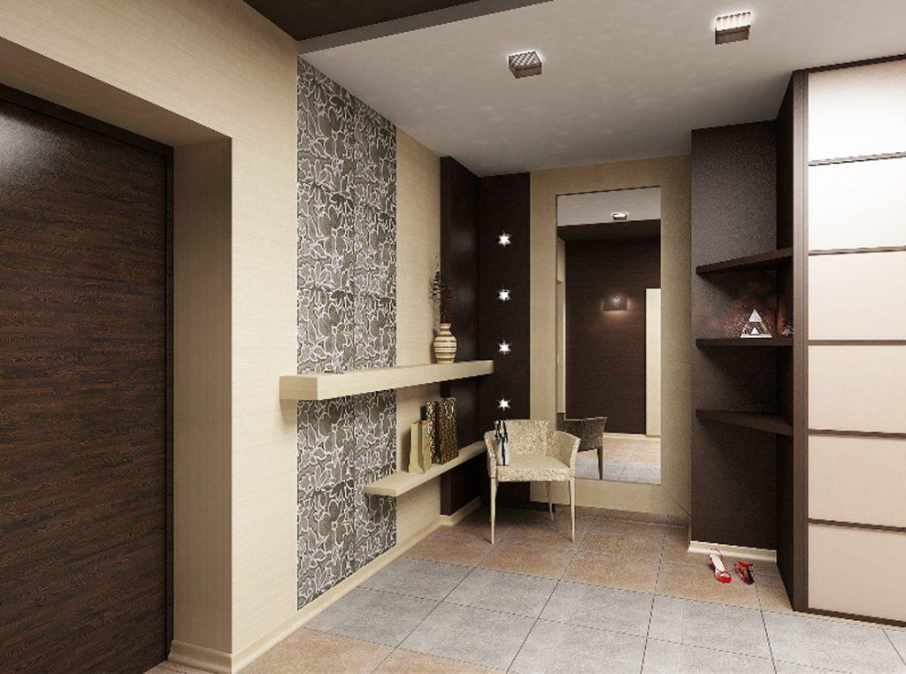 Прихожая - это первая комната, куда заходят гости, и сделать интересным ее интерьер поможет комбинирование обоев