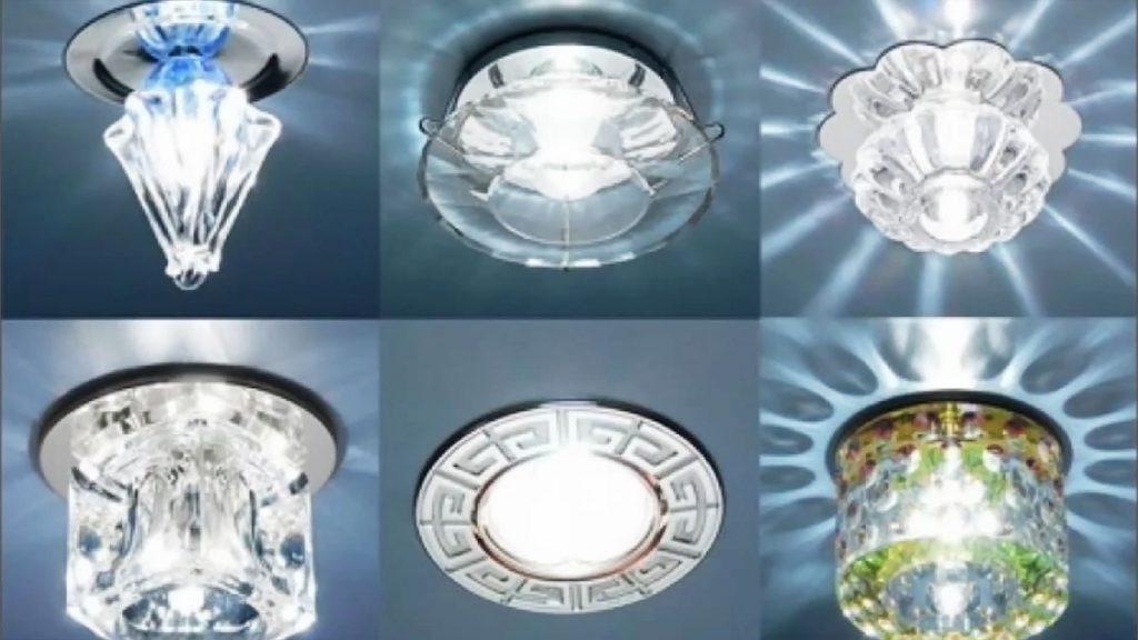 Дизайн точечных светильников для гипсокартонных потолков разнообразен
