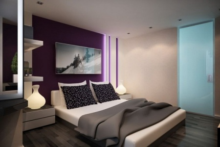 Для дизайна маленькой и стильной спальни необходимо правильно подбирать цветовую гамму