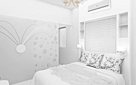 Белые обои в интерьере визуально расширяют комнату и делают ее уютной