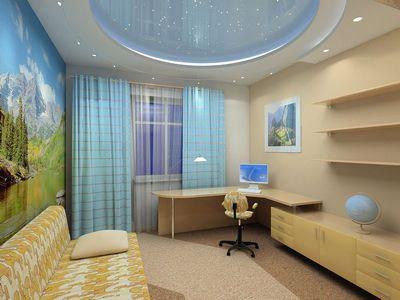 Натяжные потолки благодаря широкому спектру выбора цветов и фактур позволяют оригинальным образом оформить любую комнату квартиры