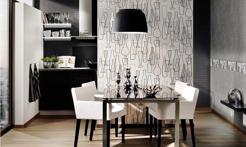 Обои - функциональный материал, который поможет создать на кухне уютную, домашнюю атмосферу