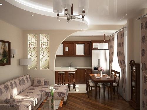 Дизайн интерьера кухни, совмещенной с гостиной,  требует особого подхода и продуманных решений