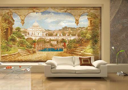 Быстро сделать интерьер неповторимым и разнообразным можно с помощью фресок