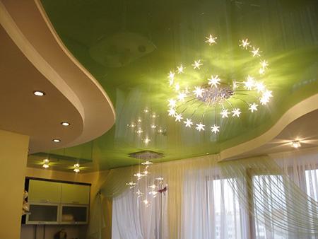 Цвета натяжных потолков разнообразны, поэтому легко выбрать вариант, подходящий под любой стиль интерьера