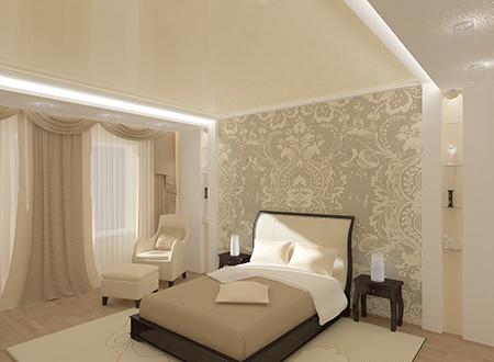 Светлые обои в спальне не только придают уюта, но и визуально увеличивают помещение