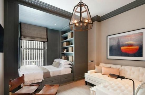 Совмещенная гостиная со спальней создадут уникальный дизайн в вашей квартире