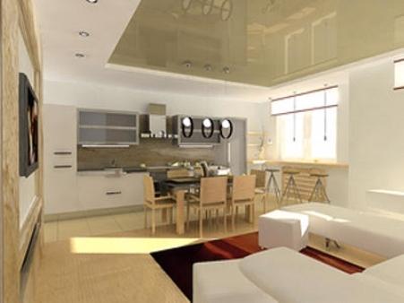 Смежная кухня с гостиной даст больше идей и фантазии для дизайна