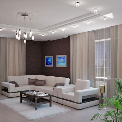 Гостиная в доме - одна из самых главных комнат, ведь в ней зачастую проводят больше всего времени