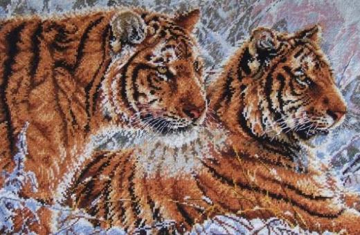 Тигры на картине символизируют силу и власть