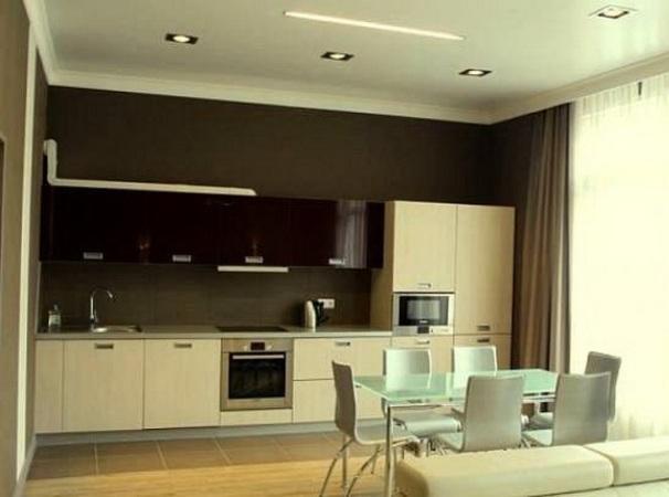 Соединив кухню с гостиной, вы получите больше пространства и уникальный дизайн