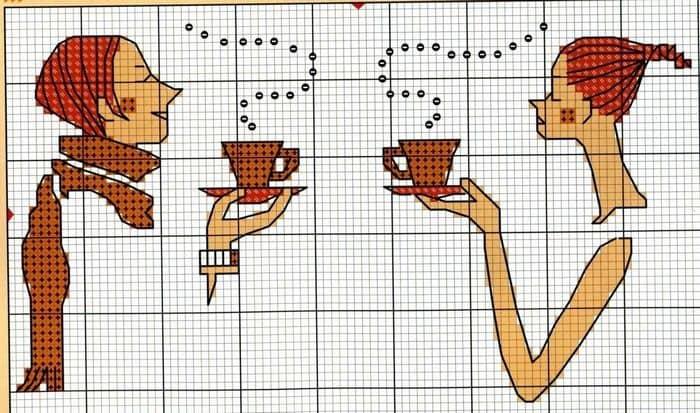 Вышивать крестом схемы людей — занятие трудоемкое, но  увлекательное