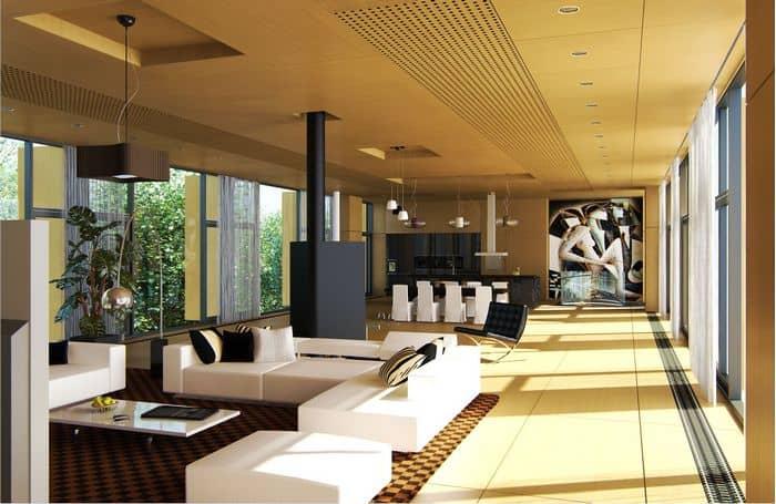 В большом частном доме проще создать желаемый дизайн, чем в квартире