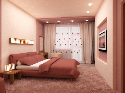 Даже в спальне небольшого размера можно создать атмосферу уюта, спокойствия и комфорта