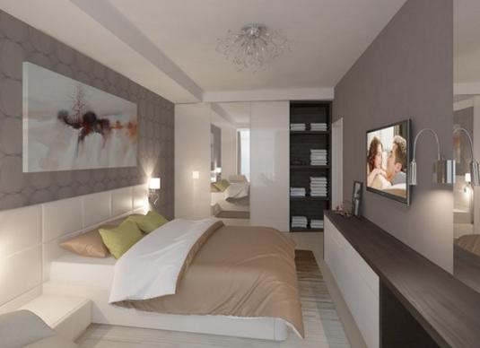 Спальня - это то место, где люди отдыхают, поэтому она должна быть максимально просторная и уютная